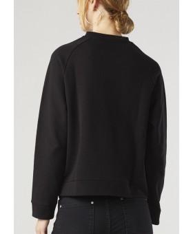 Свитшот черный с вышивкой