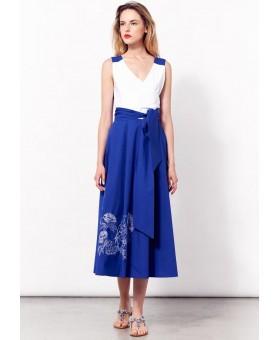 Платье летнее комбинированное