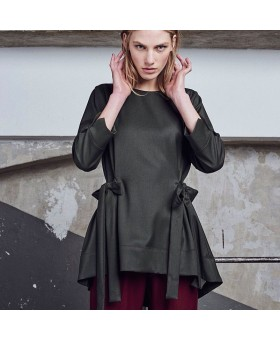 Блуза оливковая