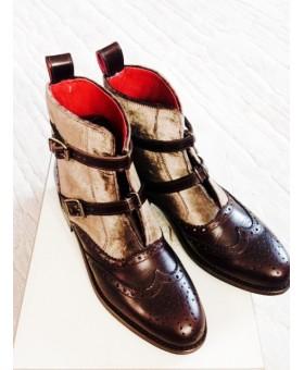 Ботинки комбинированные