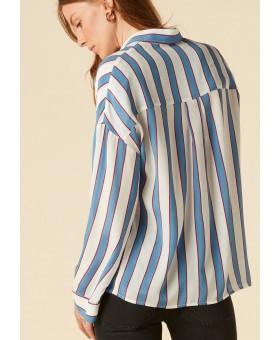 Блуза шелковая в полоску