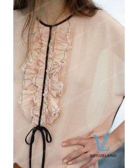 Блуза персиковая