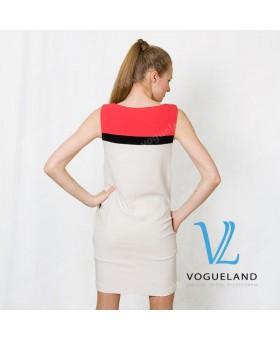 Платье с полосками