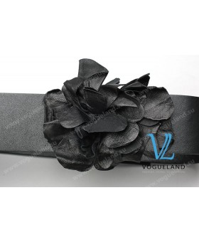 Пояс кожаный с розой