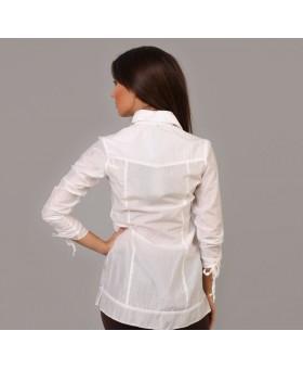 Блуза удлиненная с рюшами