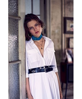 Платье белое- сафари