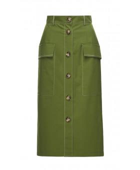 Юбка миди зеленая