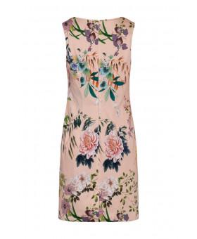 Платье коктельное с рисунком