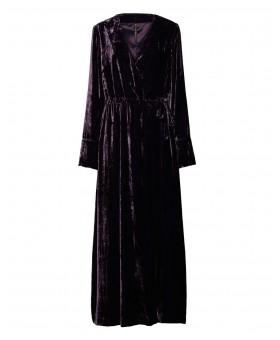 Платье- халат велюровое