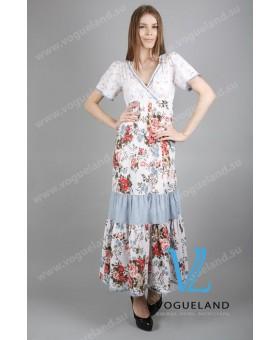 Платье цветное в пол