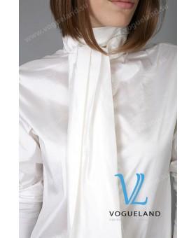 Блуза белая с бантом