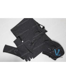 Шапка+шарф+перчатки