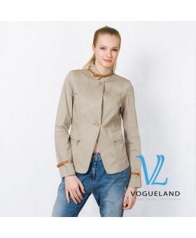 Пиджак с кожаными ремешками