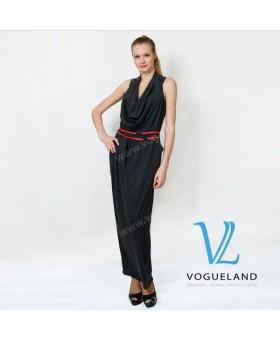 Платье трикотажное с хомутом