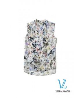 Блуза цветная без рукавов