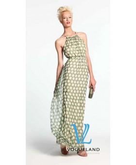 Платье шелковое в пол