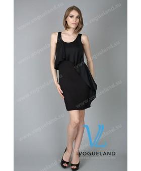 Платье комбинированное,с бантом