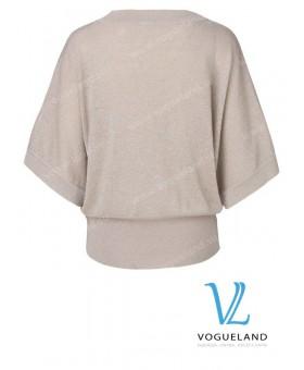 Пуловер золотистый