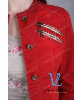 Куртка джинсовая красная
