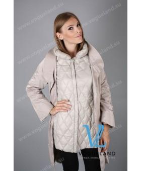 Пальто - транформер серое