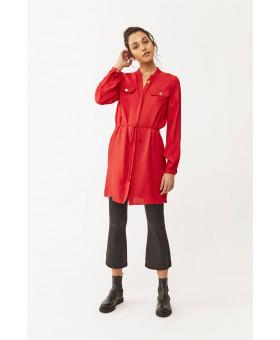 Платье-туника красное